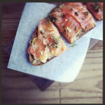 Salmon tartine at zinque